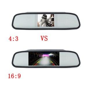 Image 3 - Podofo Auto Video HD Auto Monitor di Parcheggio, LED Night Vision Telecamera di Retromarcia CCD Auto Videocamera vista posteriore Con 4.3 pollici Retrovisore Auto Specchio