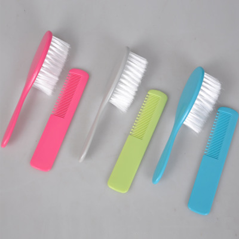 2Pcs/set Baby Comb Newborns Soft Hair Brush Comb Set Boys Girls Hair Care Massage Scalp Product Kids 4 Colors Bathing Soft Combs