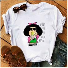 Женская футболка с графическим принтом в стиле Харадзюку веселая
