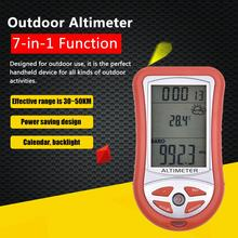 7-в-1 ручной высотомер электронная высота метр термометр уличный барометр для рыбалки Метеорологический инструмент