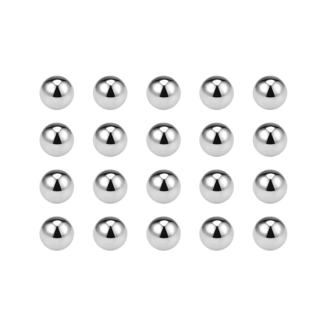 Uxcell 20pcs G10 Precision Bearing Balls 1/1.2/1.5/2.5/3.5/4.5/7.5/7/8/9/10/13mm Metric Chromium Steel Balls