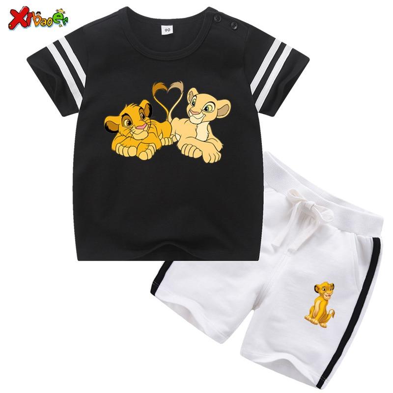 Kids Set Clothes Cartoon T Shirt 2020 Summer T-shirt Children's Clothing Boys Tshirt+short Pant 2Pcs Toddler Baby Girls Tee Tops