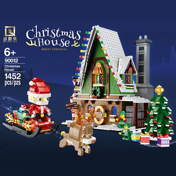 02022 kid toys 2080pcs city toys the legoing 10184 town plan set building blocks bricks new toys model for kids christmas gifts City Creator Expert The Winter Village Model Building Blocks Gingerbread House Bricks Kids Toys Christmas Santa Claus DIY Gifts