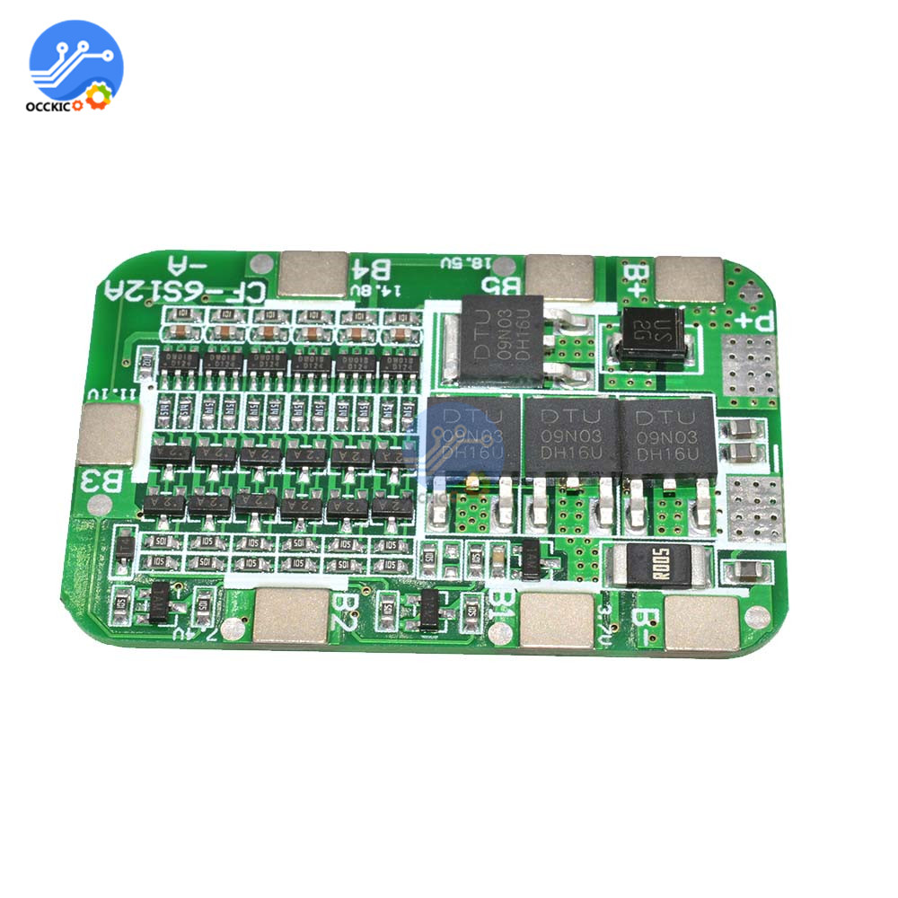 6S 15A BMS 18650 Battery Charging Protection PCB Board For 6 Packs Li-ion Lithium 18650 Battery Power Bank Balancer