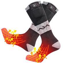Новые Теплые носки с подогревом для дня волка, зимние теплые спортивные носки для катания на лыжах, нескользящие носки для верховой езды 2020