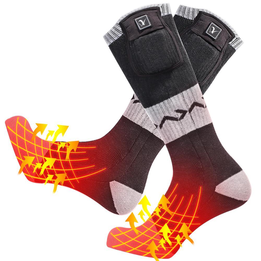 Dia Lobo novo aquecimento meias de esqui de inverno quente esportes ao ar livre meias meias andar de aquecimento anticongelante