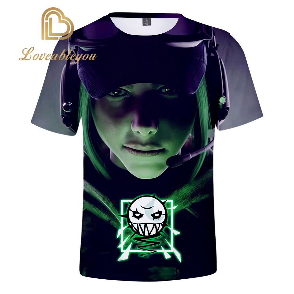 Game Rainbow Six 3D Print T Shirt Cosplay Travel Tshirt Men Vacation T-shirt Top Tee Summer Short Sleeve Shirt Dropship