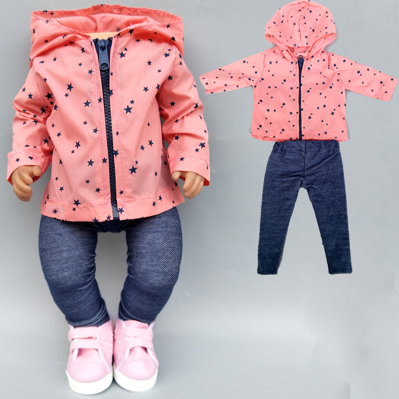 43cm Baby New Born Doll Summer Clothing For Baby Doll Clothes 18 Inch Girl Doll Jacket Coat