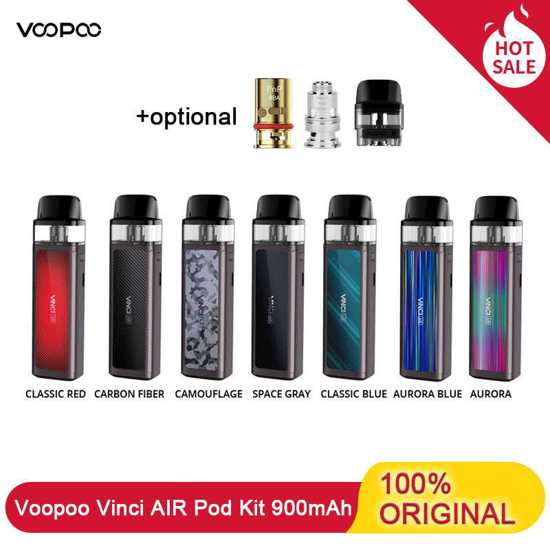 Original Voopoo Vinci AIR Vape Pod Kit With 900mAh Battery 4ml Pod System With RBA Coil & GENE.AI Chip MTL Vaping VS Vinci X