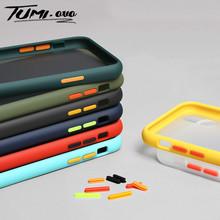 Luksusowe etui wstrząsoodporne matowe etui na telefon dla iPhone 7Plus 6Plus 6S 7 8 Plus etui na iphone #8217 a 11 Pro Max XR XS X matowa tylna okładka tanie tanio TUMI OvO Geometryczne Matowy Zwykły Przezroczysty Aneks Skrzynki pc hard back cover for iphone 6 6S 7 8 plus x 10 xs max xr 11 pro