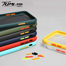 Luxo à prova de choque armadura matte caso do telefone para o iphone 7 plus 6 s 7 8 plus casos para o iphone 11 pro max xr xs x fosco capa traseira(China)