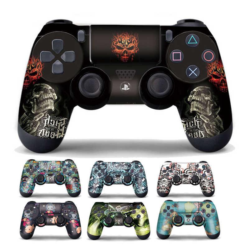 1pcs DualShock PS4 Skin Sticker For Sony PlayStation4 Game Controller Protective Cover Sticker Vinyl Anti-Slip Joystick Decor
