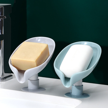Soap dish Leaf Soap Box Leaf Shaped Soap Holder Shower Soap Holder Dish Storage Plate Tray Bathroom Supplies Soap container