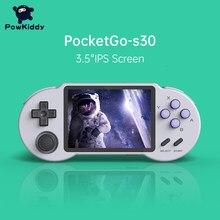 POWKIDDY Pocketgo S30 чехол для телефона в виде ретро-игровой консоли A33 чип 3,5-дюймовый IPS Экран 64 Гб предустановленный 8500 игры 3D игра PS1 DC MAME