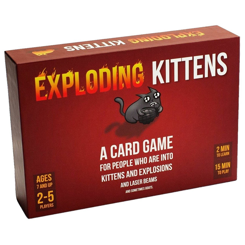 Explode Cards Game For Kitten Original Edition With Red Box NSFW Edition With Black Box Family Party Cards Game Board Games