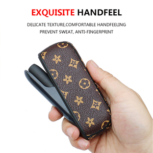 Image 5 - מגן מקרה עבור E סיגריה נייד מחזיק תיק עבור iqos 3 3.0 עסקי יוקרה עור כיסוי אהבה טוב handfeeling
