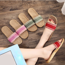 Sandals Slippers Flip-Flops Anti-Slip Casual Women Flat-Shoes Female Summer Indoor Home