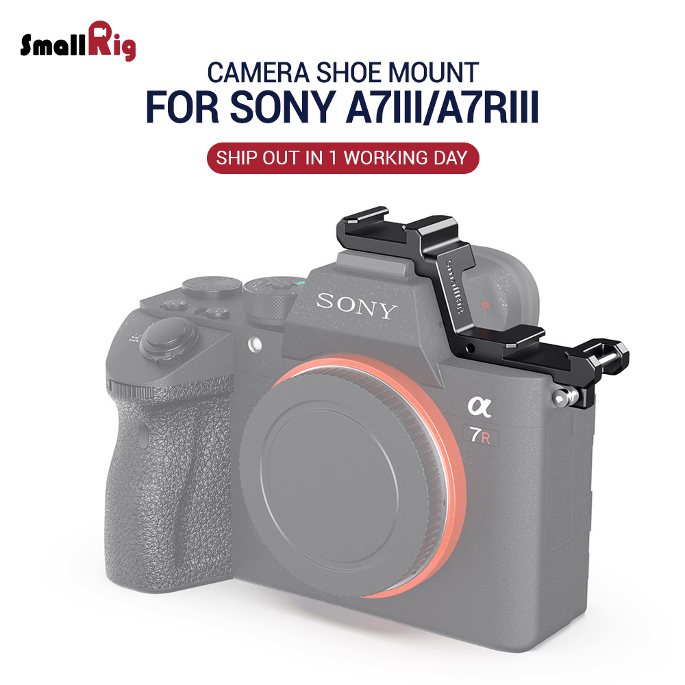 SmallRig A7 III Camera Shoe Mount Cold Shoe Extension Plate For Sony A7III A7R III For LED Mic DIY Options 2662