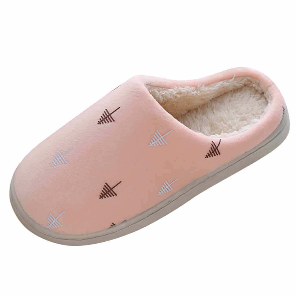 Cute Warm Cotton Winter Home Slippers Women Warm Soft Plush Home Slippers Indoor Outdoor Women Slippers Bottom Soft Home Shoes