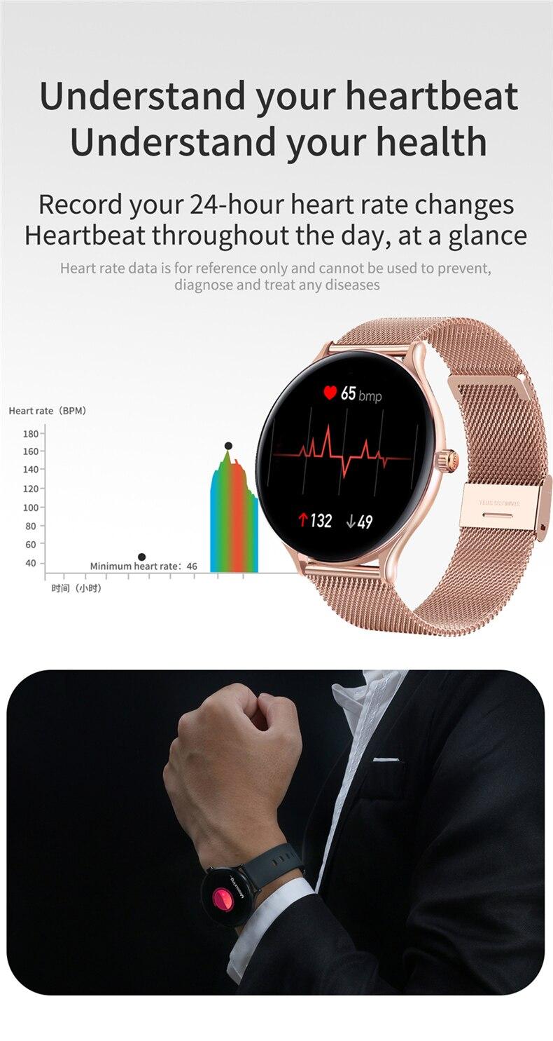 Новые смарт часы для мужчин и женщин Мониторинг Артериального