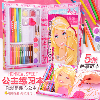Children's Painting Book Baby Coloring Picture Book Barbie Princess Picture Book Toddler Coloring Book Girl Painting Book
