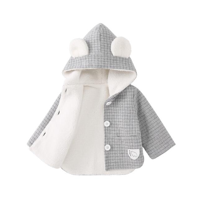 Baby Jacket - Bear Hooded and Fleece