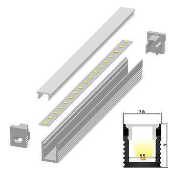 30m(30pcs) a lot, 1m per piece, led aluminum profile extrusion for led strips with milky diffuse cover