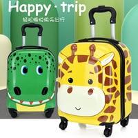 LeTrend 3D Cartoon Koffer Auf Rädern Kinder Dinosaurier Roll Gepäck Set Spinner Trolley Kinder Reisetasche Student Kabine Stamm