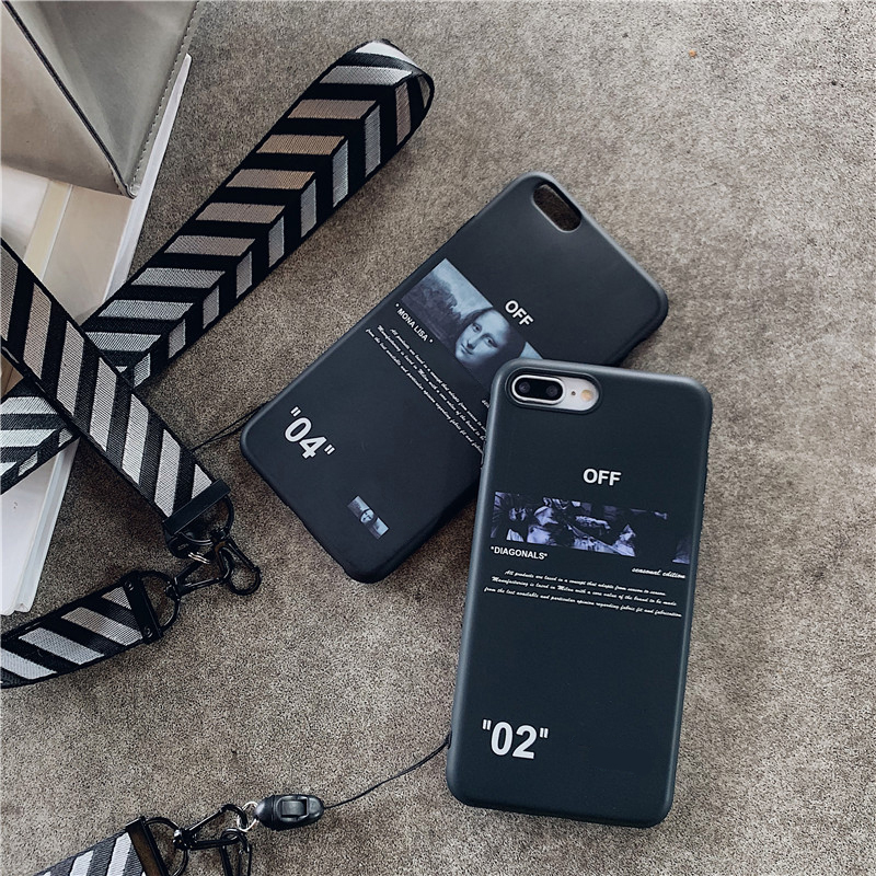Hot luxury <font><b>off</b></font> fashion stripes <font><b>case</b></font> for <font><b>iphone</b></font> x xr xs max 11 pro 7 8 <font><b>6</b></font> 6S plus Twill arrow phone cover <font><b>white</b></font> soft silicon coque image