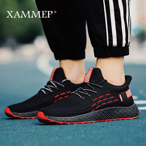 Image 4 - Sapatos casuais dos homens das sapatilhas dos homens sapatos masculinos apartamentos de malha marca mocassins deslizamento na sapata primavera outono tamanho grande sapato respirável xammep