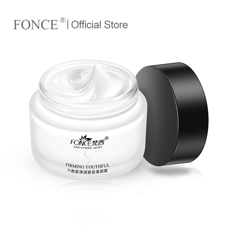 Fonce Six Peptides Firming Beauty Neck Cream 55g Lifting Anti-wrinkle Neck Care To Reduce The Fine-grain Neck Mask