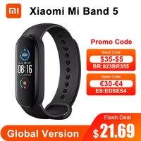 Globale Version Xiaomi Mi Band 5 Smart Armband 4 Farbe AMOLED Bildschirm Miband 5 Smartband Fitness Traker Wasserdicht Smart Band 5