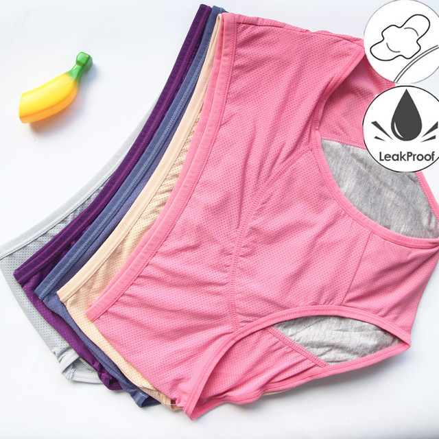 3PCS/Set Leak Proof Menstrual Panties Physiological Panty Women Underwear Period Cotton Waterproof Briefs Dropshipping HP21 1