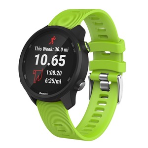 Image 4 - 20MM Soft Silicone Watch strap for Garmin Forerunner 245/245M/Vivoactive 3 Smart watches band for Forerunner 645 Music Wristband