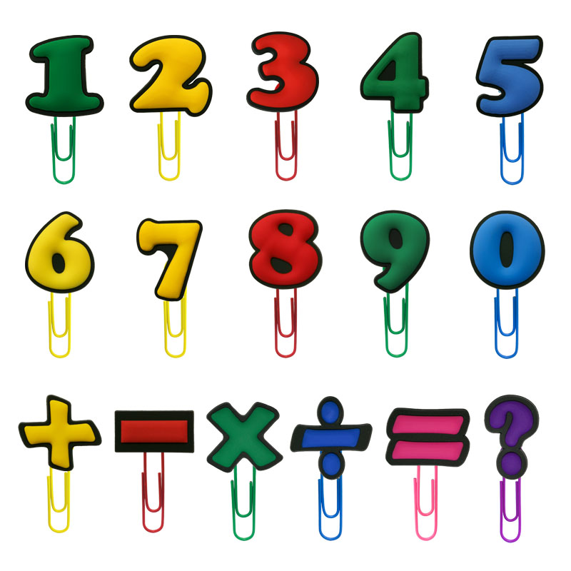 1Pcs Hot Cartoon Lovely Numbers And Symbols Bookmarks Paper Clips Office Supplies Stationery DIY Decoration For Kids Party Gifts