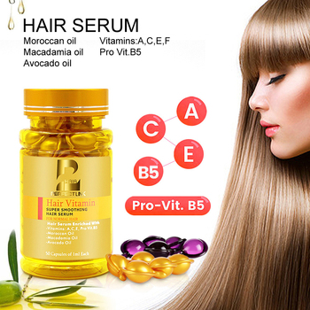 Magical Treatment Hair Mask Repair Damaged Hair Serum Moroccan Oil&Vitamin Capsule Restore Soft Hair 50pcs Keratin Hair Care недорого