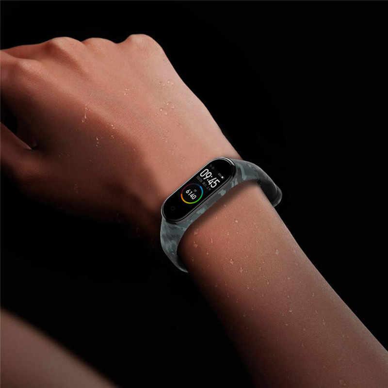 HIPERDEAL Accessori per Articoli Elettronica Smart Wristband di Ricambio del Camuffamento di Stampa Gel di Silice Della Cinghia Della Fascia Per Xiao mi mi band 3/4 Del braccialetto