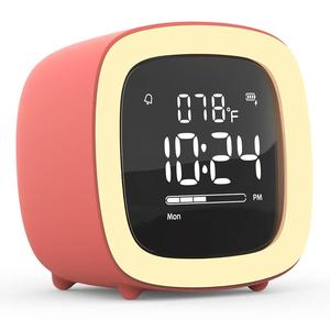 Kids Alarm Clock Cute-TV Night Light Alarm Clock for Children Bedroom Clock Rechargeable Battery Operated