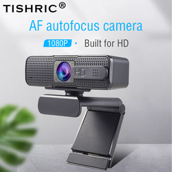 TISHRIC H701 Full HD Webcam 1080P Cover USB Web Camera With Micphone for Computer Web Cam Webcam For PC Autofocus Mini Camera