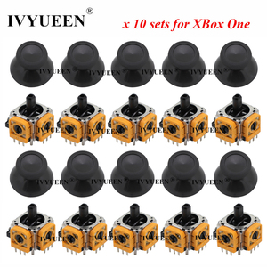 Image 2 - Ivyueen 10セット3ピン3Dアナログジョイスティックスティックセンサーモジュールポテンショメータ & サムスティックキャップマイクロソフトxbox one sコントローラ