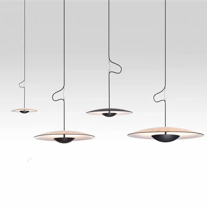 Modern Saucer Shape LED Pendant Lights Living Room Kitchen Dining Room Restaurant Bar Hanging Lamps Home Decor Lighting Fixtures