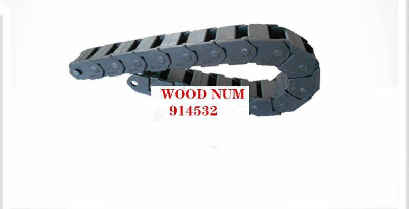 ניילון שרשרת 15x15mm 15*20mm 15*30mm 40 50mm 1M פלסטיק כבל גרירה כבל כבל גרירה עם פתחים בשני הצדדים