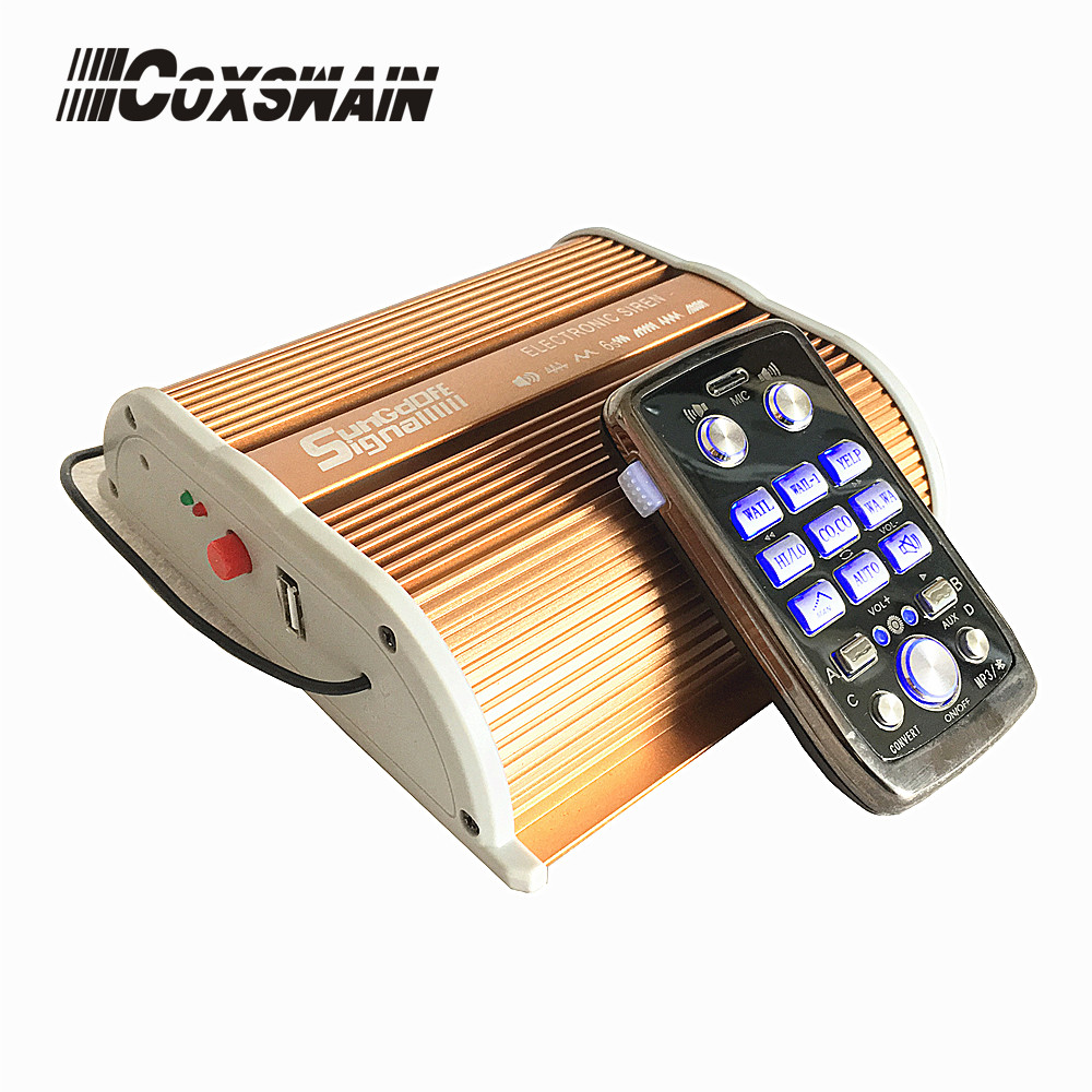 Coxswain T9 200W Wireless Alarm Horn Siren For Car With USB And Bluetooth MP3 Function Remote Control Alarm Siren DC12V