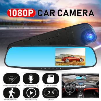 4 car dash camera 3 lens dvr full hd 1080p night vision video recorde smart touch screen backup rear camera driving recorder 4 Inch Full HD Dash Camera 1080P Night Vision 3 in 1 Rearview Mirror Car Driving Recorder Car DVR Video Camcorder TF  for Car