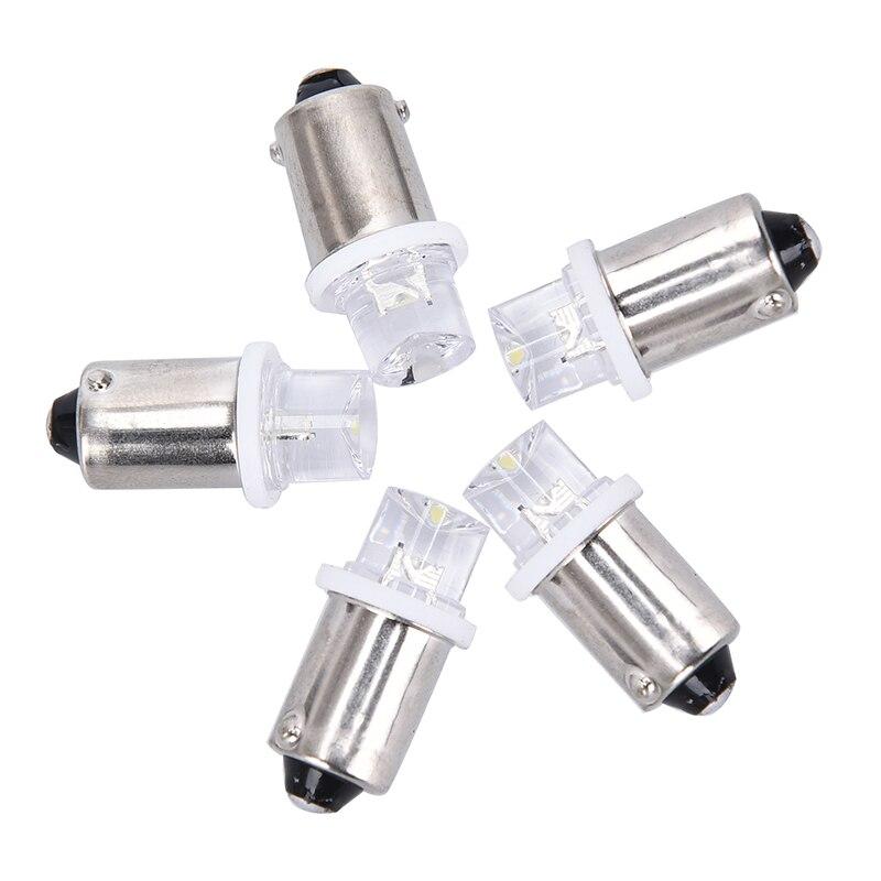 5Pcs BA9S LED Indicator Bulbs License Plate Bulbs 24V Ba9s 3V LED Ba9S 6V Instrument Bulbs 4.5V 12V Ba9S