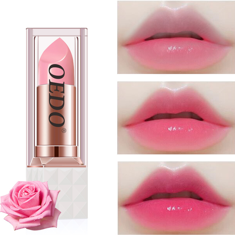 Rose Peptide Nourishing Colorful Lip Balm Anti Aging Antifreeze Anti-chapped Makeup Face Skin Care Repair Damage Lip Moist Cream
