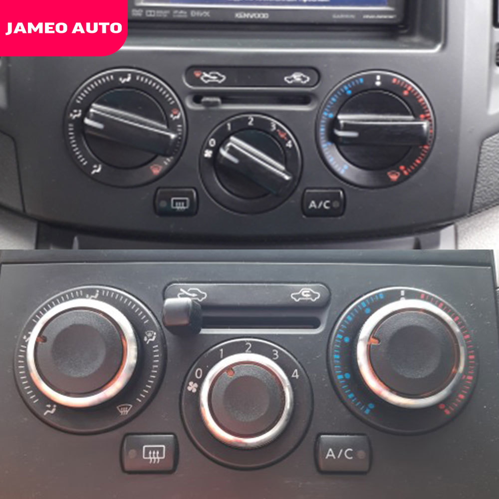 Jameo Auto Car Styling 3pcs Air Conditioning Heat Control Switch Knob AC Knob For Nissan Tiida NV200 Livina Geniss Accessories