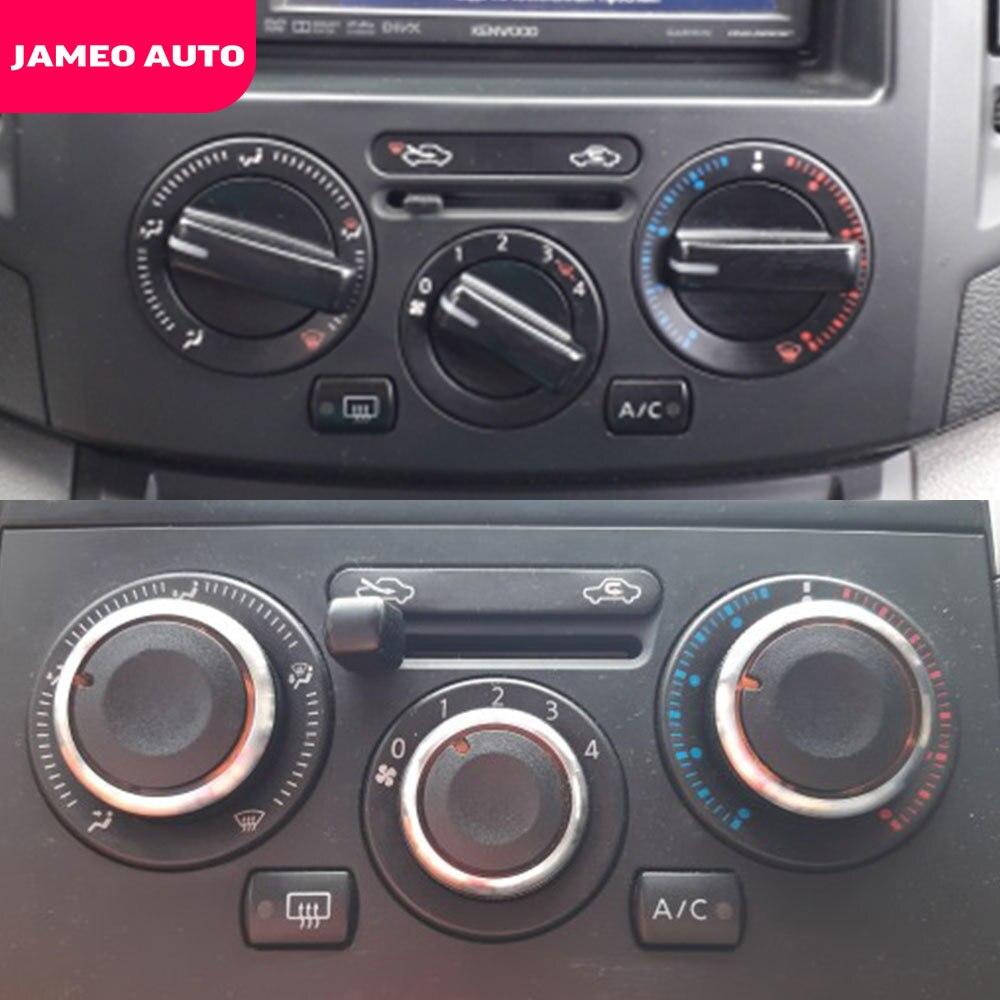 Jameo Auto Car Styling 3pcs Aria Condizionata Manopola Interruttore di Controllo del Calore AC Manopola per Nissan Tiida NV200 Livina Geniss accessori
