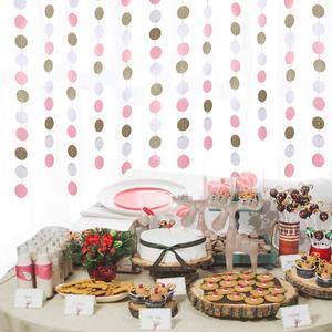 Image 3 - 11 רגליים גליטר זהב לבן ורוד גדול מעגל זר לחתונה אירועים מסיבת יום הולדת תינוק מקלחת קישוטי חדר ילדים דקור