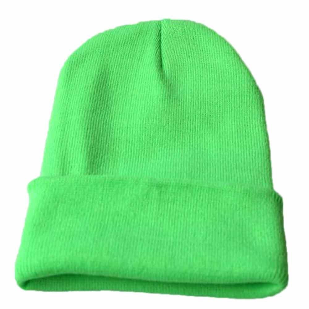 Осенне-зимняя одежда из шерсти смеси мягкий теплый вязаный Кепки Повседневное Chapeau унисекс сапоги высотой выше колена Вязание шапка в стиле хип-хоп кепка, теплая зимняя Лыжная шапка# Y5 - Цвет: Зеленый